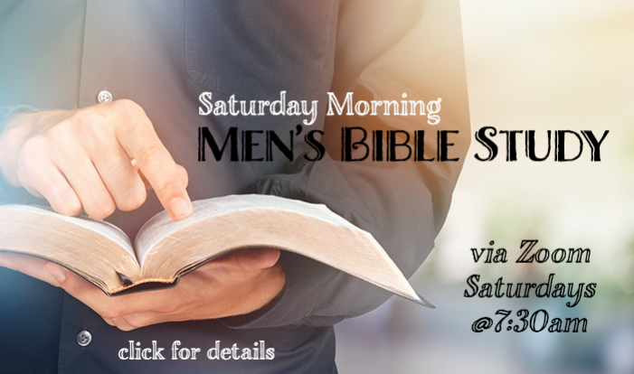 Saturday Morning Men's Bible Study
